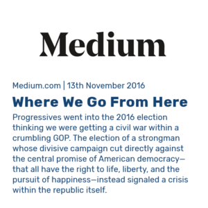 Clip Preview for Medium article: Where We Go From Here