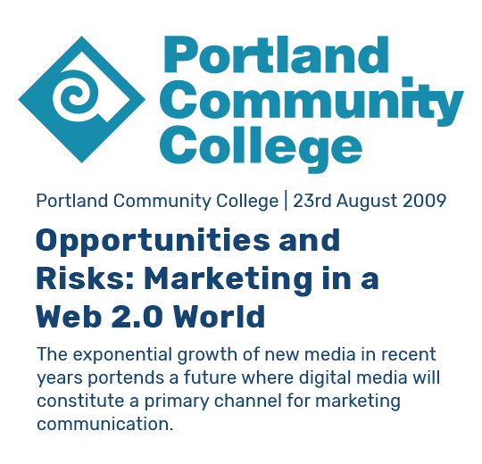 Clip previw for Research Paper: Opportunities and Risks: Marketing in a Web 2.0 World